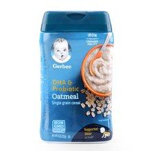 美国Gerber嘉宝婴幼儿DHA燕麦2段米粉(227g)