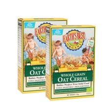 Earths Best爱思贝进口宝宝米粉 婴儿米糊 有机燕麦粉二段2盒装