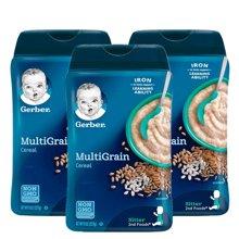 【3盒装】美国嘉宝Gerber混合谷物米粉2段227g