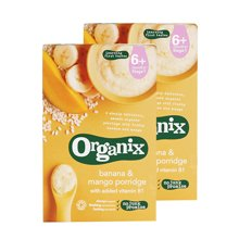 【香港直邮】英国欧格妮Organix 有机米粉米糊 宝宝辅食 6月+ 芒果香蕉口味120g*1盒