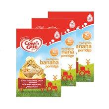 【香港直邮】英国牛栏cow&gate香蕉米粉米糊7月以上200g *3盒装