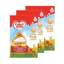 【香港直邮】英国牛栏cow&gateGate热带水果谷物米粉米糊 7个月+ 200g *3盒装