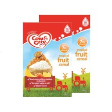 【香港直邮】英国牛栏cow&gateGate热带水果谷物米粉米糊 7个月+ 200g *2盒