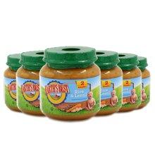 Earths Best爱思贝美国进口糙米扁豆混合泥婴幼儿佐餐泥113g*6罐