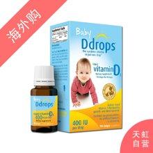 美国Baby Ddrops 维生素D3滴剂促进宝宝生长(2.5ml)