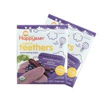 【香港直邮】美国禧贝Happy Baby 有机婴幼儿辅食 蓝莓紫色紅萝卜磨牙棒饼干*2盒装