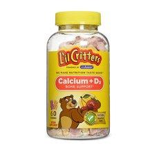 【香港直邮】美国Lil Critters小熊糖儿童补钙+维生素D 150粒*1瓶装