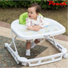 Pouch多功能婴儿U型学步车正品 宝宝儿童学步车防侧翻可折叠