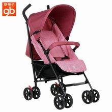 好孩子轻便婴儿伞车可平躺宝宝手推车便携折叠避震童车婴儿车(D400-P113粉紫)