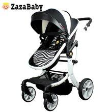 Zazababy婴儿推车可坐可躺轻便折叠避震四季宝宝儿童高景观手推车 Za-探路者