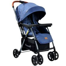 pouch婴儿推车轻便可躺可坐全蓬双向推行避震宝宝手推车童车宽大舒适 双向平躺