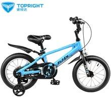 途锐达儿童自行车16寸男女宝宝3 5 6 8岁一体轮单车童车 闪电