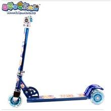 喜羊羊与灰太狼YY287可升降儿童滑板车三轮踏板车多用闪光滑滑车3-8岁