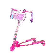 喜羊羊儿童车YY-271滑板车宝宝三轮滑踏板小孩滑滑车闪光轮减震折叠可调