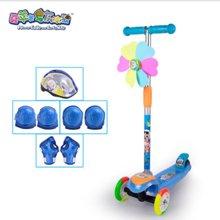喜羊羊滑板车 YY-2692 儿童四轮摇摆车 【闪光】音乐可升降踏板车 特价包邮