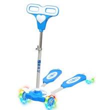 婴侍卫儿童动感四轮PU蛙式闪灯滑板车四档可调节高度儿童健身车QY-SW002-A