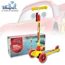 迪士尼滑板车 儿童 一键拆卸可调节 三轮闪光3-12岁宝宝溜溜滑滑车小孩踏板车