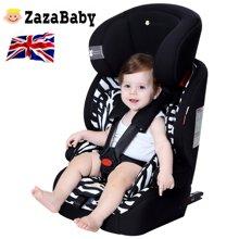 英国zazababy 儿童安全座椅婴儿宝宝汽车用9月-12岁isofix硬接口 za-2180pro
