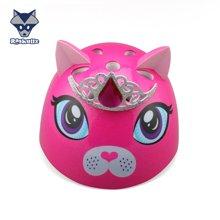美国raskullz来斯狐3D粉红kitty儿童自行车骑行溜冰轮滑滑板护具 头盔-小码2-7岁