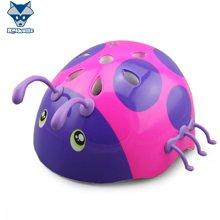 美国raskullz来斯狐3D甲壳虫女款儿童头盔自行车骑行轮滑护具男款-小码2-7岁
