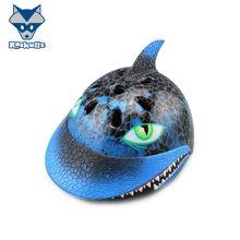 美国raskullz来斯狐3D黑色鲨鱼儿童头盔男女宝自行车溜冰轮滑板护具-小码2-7岁