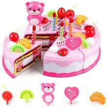儿童过家家厨房女孩手推车生日切蛋糕玩具仿真蔬菜水果切切乐套装
