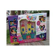 邦迪 2015 JYX-009新款智力美术魔法拼盘 早教益智塑料拼图 3岁智力宝宝拼插玩具