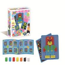 爆款 JYX-005 环保无害 智力美术魔法拼盘 儿童早教益智塑料拼图 智力宝宝拼插玩具