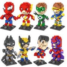 小才童小颗粒钻石积木 英雄联盟加大盒 塑料拼插公仔玩具9453-6012PX