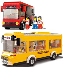小才童巴士公车交通工具 儿童益智拼装拼插积木玩具3013129MC