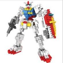 小才童钻石小颗粒高达机动战士机械机器人模型拼装积木玩具935035PX