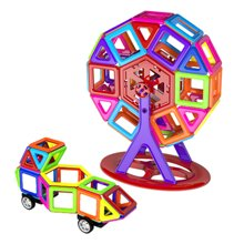 小才童56片迷你魔磁益智磁力片积木儿童磁性积木玩具608-350WLW