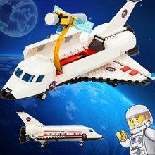 小才童航天飞机航空 启蒙益智组装拼插拼装塑料积木玩具881432MC