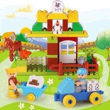 农场系列奔奔的烦恼大颗粒创意玩具 益智彩色积木玩具批发HPDDT1623