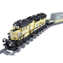 儿童益智拼装积木玩具男孩电动轨道火车系列拼插玩具WES98101-102-103-201