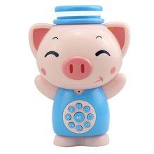 麦迪熊智能玩具早教机故事机强化版麦猪猪  蓝色(MD-13)