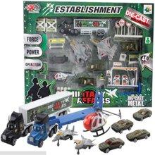 邦迪  DB-006 环保无伤害儿童滑行合金车军事组合套装 仿真车模玩具