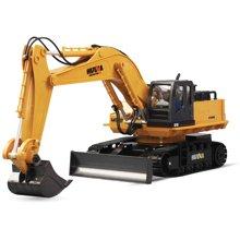 育儿之钥合金遥控挖掘机汽车玩具 充电 男孩无线遥控工程车耐摔儿童挖土机