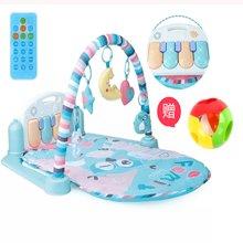 (赠叮当球8318)贝恩施婴儿脚踏钢琴健身架玩具0-1岁 新生儿宝宝音乐游戏毯3-6月