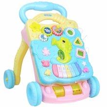 育儿之钥 YuErZhiYao 小海马学步车手推车玩具婴儿童防侧翻调速助步车