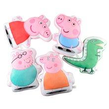 小猪佩奇peppapig粉红猪小妹佩佩猪男孩女孩亲肤毛绒饼干抱枕
