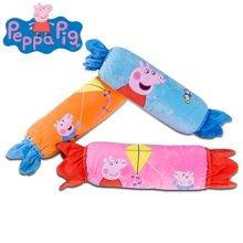 小猪佩奇粉红猪小妹佩佩猪午睡毛绒毯糖果款卡通抱枕被子两用枕120x150cm