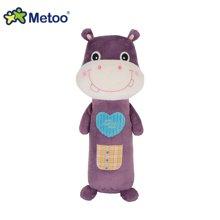 metoo亲亲宝贝可爱条形公仔长抱枕 女生毛绒玩具靠垫