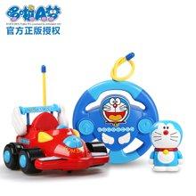 哆啦A梦手办遥控车 宝宝玩具车 耐摔带音乐灯光电动遥控车模型