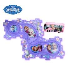 港版Disney迪士尼魔雪奇缘 儿童过家家4块自由拼图路轨电车