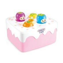 贝恩施儿童益智敲打水果蛋糕打地鼠