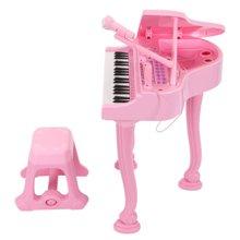 贝恩施儿童电子琴带麦克风音乐玩具 儿童钢琴宝宝益智玩具男女孩