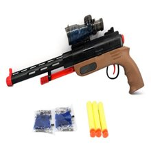 聚优信 JYX-012 环保3C认证可发射水弹软弹泡沫弹无害狙击儿童炫酷玩具枪
