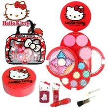 育儿之钥Hello Kitty凯蒂猫专业化妆手提袋儿童化妆品彩妆盒玩具礼物