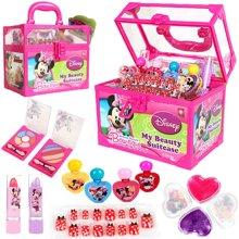 育儿之钥迪士尼米妮炫丽美妆手提箱D22155 儿童化妆品彩妆盒女孩化妆